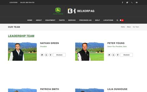 Screenshot of Team Page belkorpag.com - Our Team - captured May 20, 2018