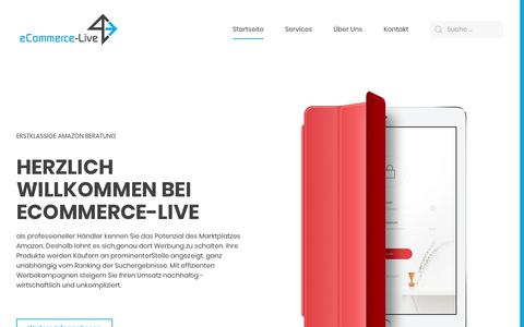 Screenshot of Home Page e-commerce-live.com - e-commerce-live.com – E-Commerce Beratung für Markenhersteller, Händler und Start-ups! - captured June 8, 2018