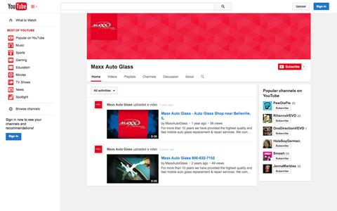 Screenshot of YouTube Page youtube.com - Maxx Auto Glass  - YouTube - captured Oct. 29, 2014