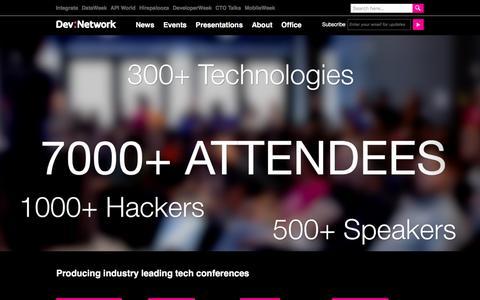 Screenshot of Home Page devnetwork.com - Home - DevNetwork - captured Jan. 7, 2016