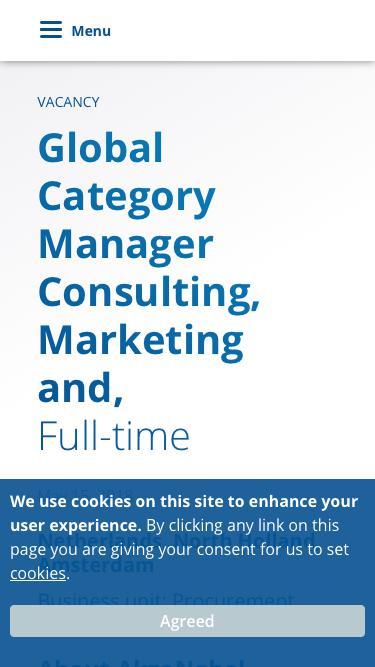 Screenshot of Jobs Page  akzonobel.com - VACANCY