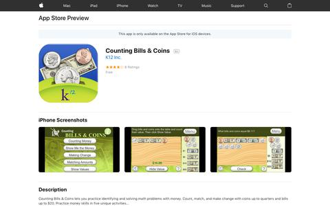 Counting Bills & Coins on the AppStore