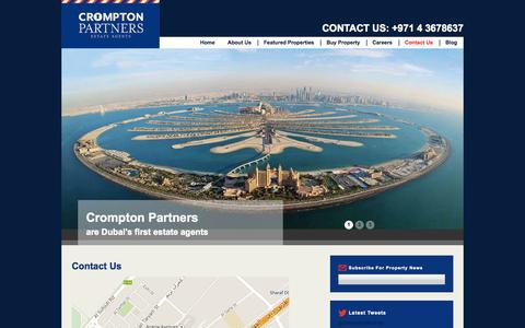 Screenshot of Contact Page cromptonpartners.com - Contact Us - Buy Property in Dubai - captured Oct. 27, 2014
