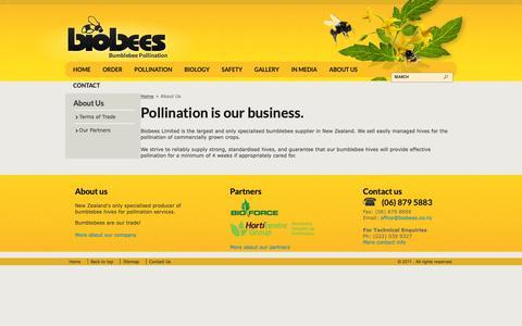 Screenshot of About Page biobees.co.nz - Biobees - About Us - captured Oct. 6, 2018