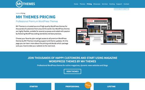 Screenshot of Pricing Page mhthemes.com - Pricing | MH Themes - captured May 26, 2017