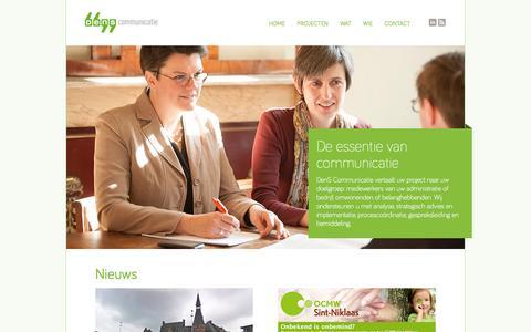 Screenshot of Menu Page denscommunicatie.be - Dens Communicatie - De essentie van communicatie - captured Nov. 3, 2014