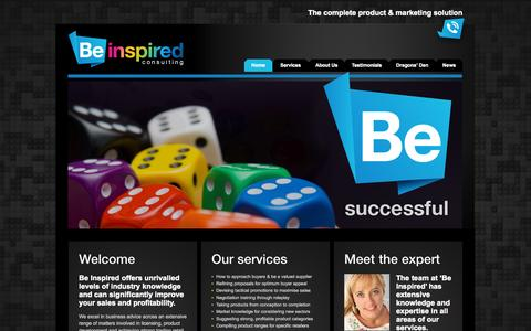 Screenshot of Home Page beinspiredconsulting.net - Be Inspired Consulting | Toy product development expertise - captured Oct. 5, 2014