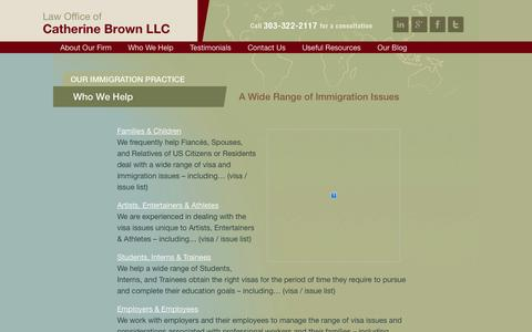 Screenshot of Terms Page cbrownlaw.com - Green Card Lawyer | Fiance Visa Lawyer Denver | Catherine Brown | Law Office of Catherine Brown - captured Oct. 2, 2014