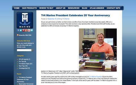 Screenshot of Blog thmarine.com - Boat Accessories & Supplies, Fishing Boat Accessories | T-H Marine - captured Sept. 23, 2014