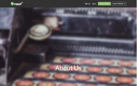 Screenshot of About Page roost.com - About Us - captured Dec. 11, 2015