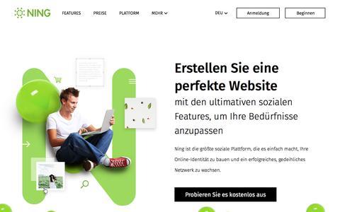 Screenshot of ning.com - NING: Homepage-Baukasten für Ihre eigene soziale Webseite - captured June 3, 2017