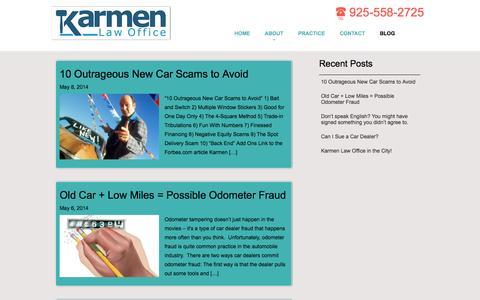 Screenshot of Blog karmenlawoffice.com - Blog | Karmen Law Office - captured Sept. 30, 2014