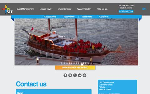 Screenshot of Contact Page sit.com.mt - Special Interest Travel (SIT) | Contact us - Special Interest Travel (SIT) - captured Oct. 27, 2014