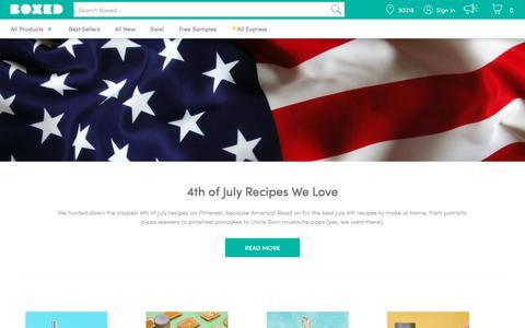 Screenshot of Blog boxed.com - Boxed Blog - captured June 27, 2018