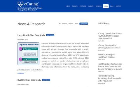Screenshot of Case Studies Page ecaring.com - Case studies Archives - eCaring - captured Nov. 23, 2015