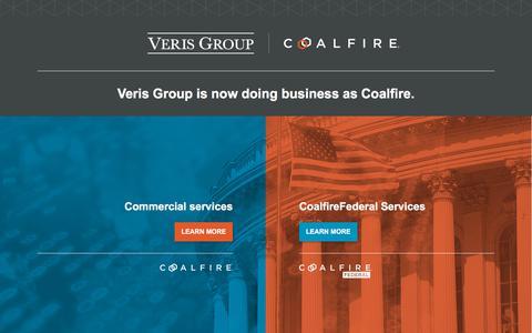 Screenshot of Home Page verisgroup.com - Veris Group - captured Aug. 17, 2019