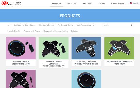 Screenshot of Products Page eacome.com - PRODUCTS-Conference Phone -  Conference Call Products - EACOME, Inc. - captured Sept. 25, 2018