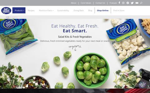 Screenshot of Products Page eatsmart.net - Salad Kits & Fresh Vegetables | Eat Smart - captured Dec. 30, 2017
