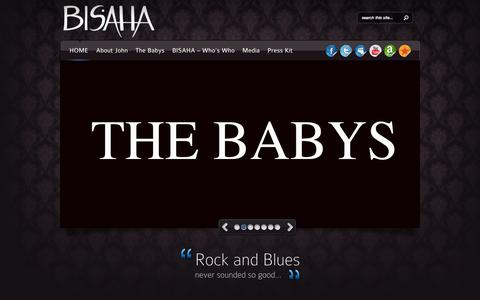 Screenshot of Home Page bisahamusic.com - BISAHA Music - captured Sept. 3, 2015