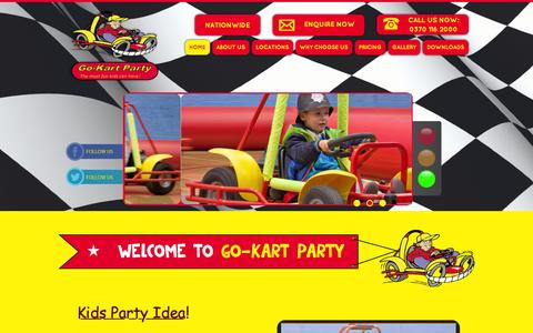 Screenshot of Home Page go-kartparty.co.uk - Kids Party Ideas | Birthday Party Ideas | Official Go-Kart Party - captured Dec. 10, 2015