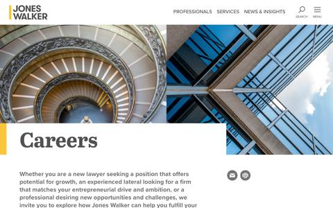 Screenshot of Jobs Page joneswalker.com - Careers at Jones Walker | Jones Walker LLP - captured Nov. 14, 2018