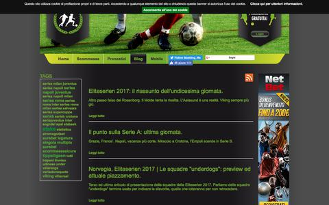Screenshot of Blog bettinglife.it - Il Blog di BettingLife - - captured June 1, 2017