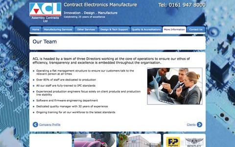 Screenshot of Team Page acl.co.uk - Our Team - ACL UK - captured Oct. 4, 2014