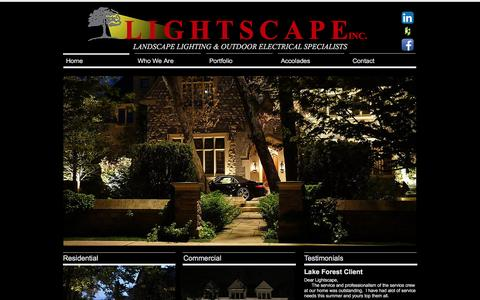 Screenshot of Home Page lsilighting.net - Lightscape Inc. premier Outdoor / Landsca Lighting Chicago, Illinois - captured Nov. 8, 2016