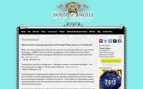 Screenshot of Testimonials Page growinginknowledge.com - Testimonials - - captured Oct. 3, 2014