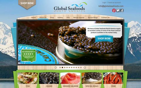 Screenshot of About Page globalseafoods.com - Global Seafoods partners with U.S. companies who share the goal of making great seafood at great prices.   Global Seafoods - captured Oct. 22, 2014