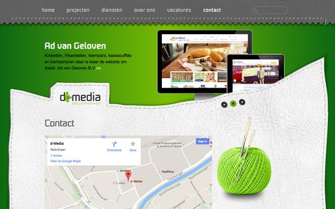 Screenshot of Contact Page d-media.nl - Contact | d-Media web professionals - captured Sept. 30, 2014