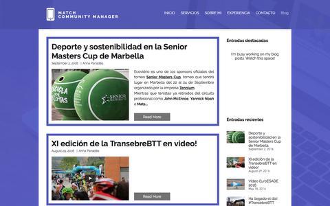Screenshot of Blog matchcm.com - Match Community Manager - Marketing Deportivo - captured Nov. 27, 2016