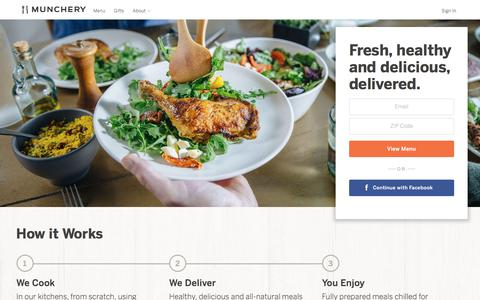 Screenshot of Home Page munchery.com - Best Food Delivery Service for Healthy Prepared Meals | Munchery | Munchery - captured Feb. 3, 2018