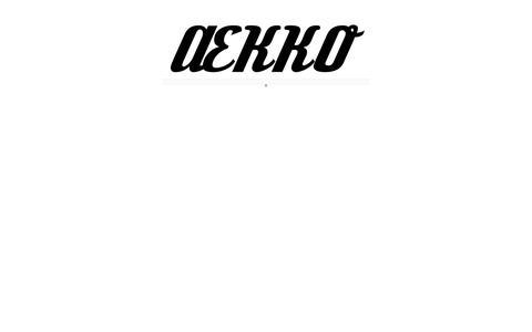 Screenshot of Home Page aekko.com - ÆKKO - captured Sept. 30, 2014