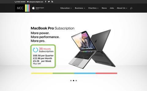 Screenshot of Home Page mccdigital.com - School Ipad Subscription - Monthly School Ipad Subscribtion - Best Ipad Subscription - captured Oct. 1, 2018