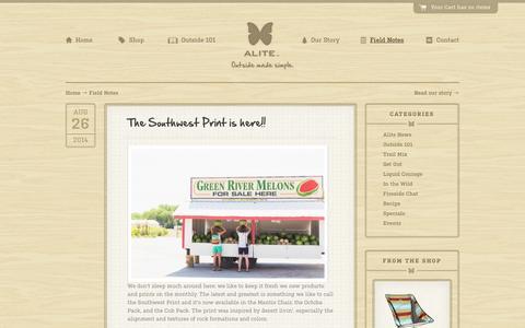 Screenshot of Blog alitedesigns.com - Field Notes | Alite Designs - captured Sept. 23, 2014