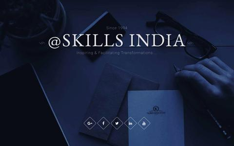 Screenshot of Home Page Site Map Page skillsindia.com - Management Consultants and Learning Facilitators - skills india - captured July 22, 2016