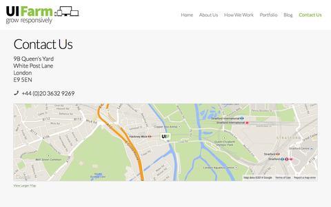 Screenshot of Contact Page uifarm.co.uk - Contact Us | UI Farm - captured Oct. 3, 2014