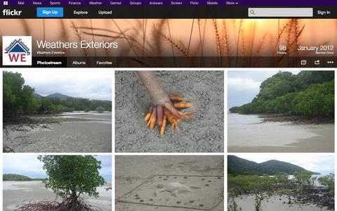 Screenshot of Flickr Page flickr.com - Flickr: Weathers Exteriors' Photostream - captured Oct. 26, 2014