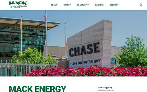 Screenshot of About Page mec.com - About - Mack Energy Corporation - captured Dec. 20, 2018
