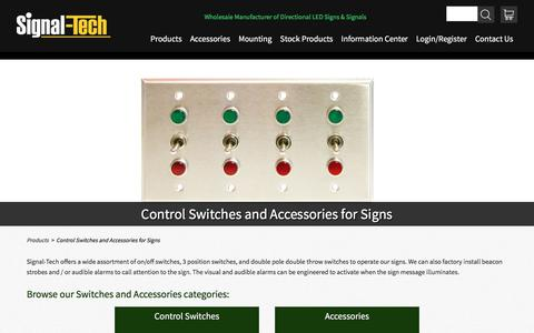 Sign Accessories | Sign Controllers | Sign Control Options | Sign Add-Ons | Signal-Tech