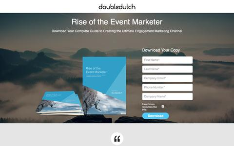 Screenshot of Landing Page doubledutch.me - Mobile Apps for Events and Conferences by DoubleDutch - captured March 22, 2016