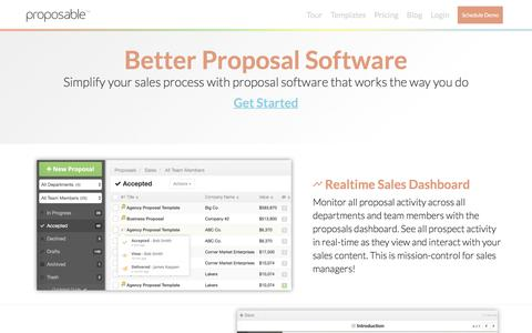 Create Online Proposals in Minutes