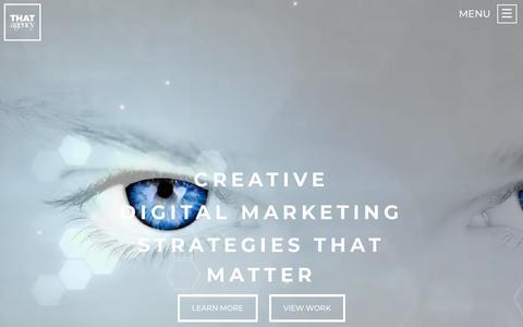 Screenshot of Home Page thatagency.com - THAT Agency | Inbound & Digital Marketing Agency - captured Sept. 22, 2018