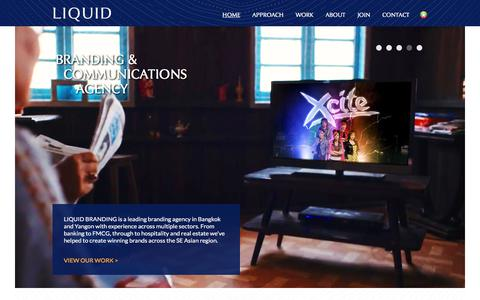 Screenshot of Home Page liquid-branding.com - LIQUID BRANDING - Branding and Marketing Communications Agency in Bangkok, Thailand - captured Aug. 15, 2017