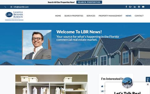 Screenshot of Press Page teamlbr.com - Welcome To My Real Estate Blog! | Lightle Beckner Robison, Inc. - captured Sept. 28, 2018