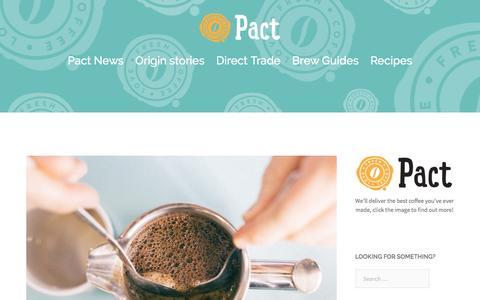 Screenshot of Blog pactcoffee.com - The Perc - captured June 1, 2016