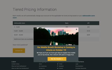 Tiered Pricing | Legal | Urban Airship