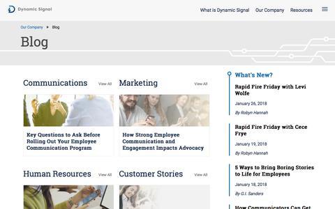 Dynamic Signal's Company Communications Blog | Dynamic Signal