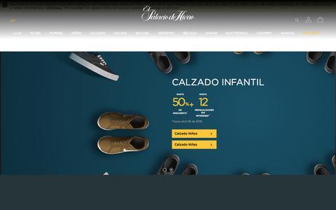 Screenshot of Home Page elpalaciodehierro.com - Compra en Línea Moda, Calzado, Joyería, Electrónica, Deportes, Hogar - El Palacio de Hierro - captured April 24, 2018